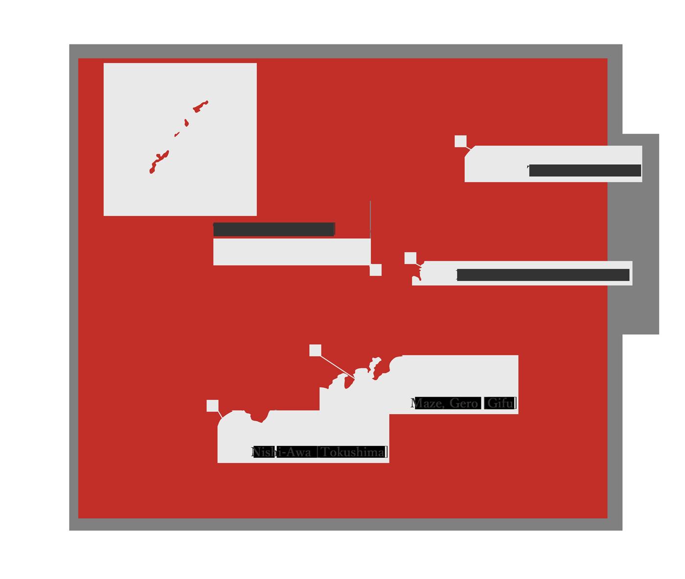 Savor Japan - Japan map red